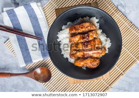 куриные терияки риса мяса индийской еды Сток-фото © M-studio