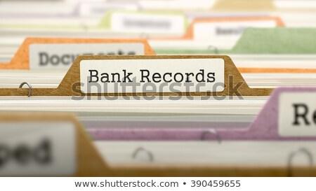 Carpeta banco registros 3D tarjeta Foto stock © tashatuvango