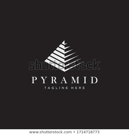 pyramid logo stock photo © meisuseno