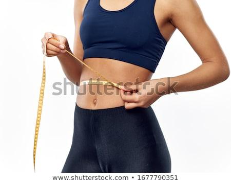 Girl Waistline Measurement Stock photo © lenm