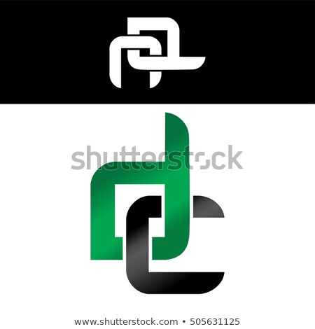 Carta logo verde negro diseno oro Foto stock © vector1st