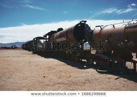 Stazione ferroviaria Bolivia sud america auto sole panorama Foto d'archivio © daboost