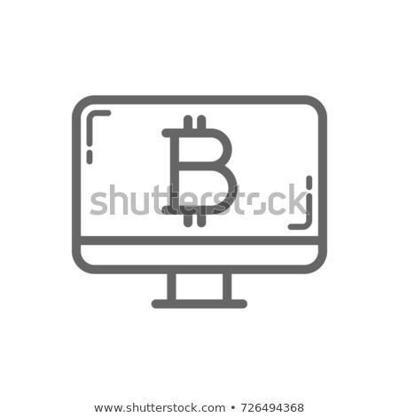 Bitcoin koud opslag symbool desktop scherm Stockfoto © RAStudio