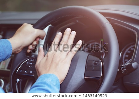 Male hand honking the car horn Stock photo © stevanovicigor