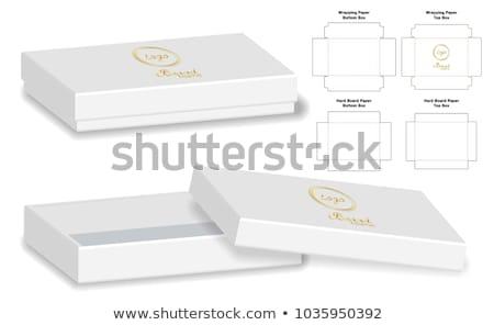 Pequeño rectangular gris cuadro caja de cartón aislado Foto stock © studioworkstock