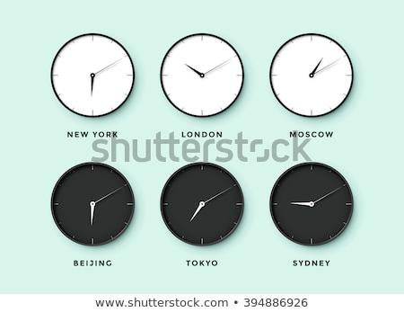 ícone · terra · hora · férias · linear · estilo - foto stock © get4net