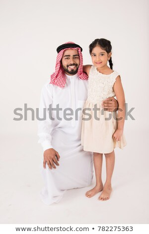 A Middle Eastern man with his daughter stock photo © monkey_business