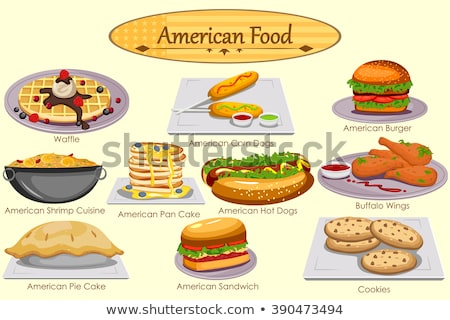 selection of junk food, american food Stock photo © M-studio