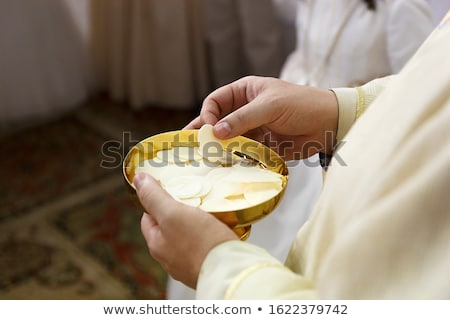 Bible, Eucharist, sacrament of communion background  Stock photo © JanPietruszka
