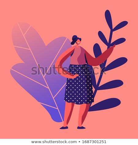 örvend lány gyönyörű ruha fény haj Stock fotó © robuart