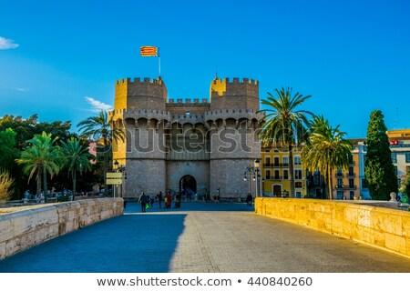 Serrano towers Valencia İspanya 2016 yol Stok fotoğraf © joyr