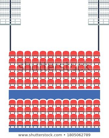 Row of plastic stadium seating - sport arena chairs Stock photo © gomixer