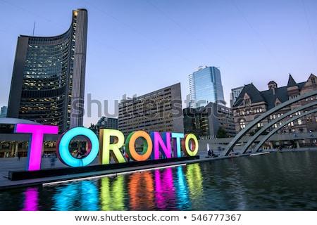 Toronto · horizonte · reflexión · agua · cielo · edificio - foto stock © blamb