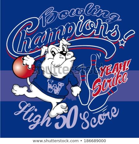 Bulldog Bowling Sports Mascot Stock photo © Krisdog