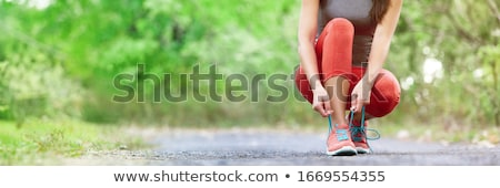 Runners joggers parco coppia cross Foto d'archivio © Krisdog