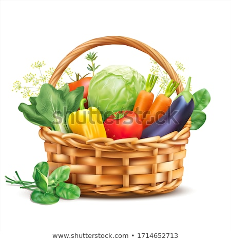 Organisch groenten mand stilleven laag sleutel Stockfoto © Lana_M