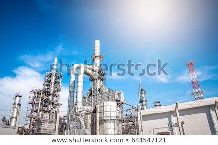 fábrica · fabrico · planta · silhueta · químico - foto stock © studiostoks