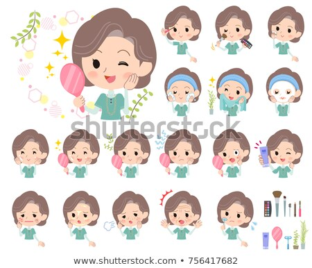 Blue-green tunic Middle women_beauty Stock photo © toyotoyo