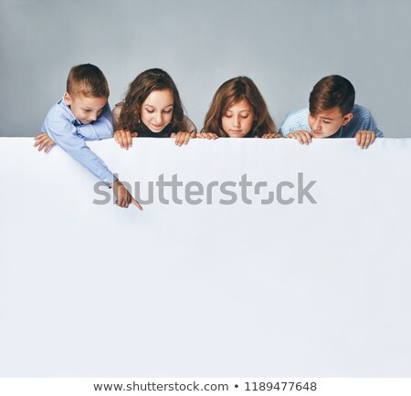 a blank board with children stock photo © bluering