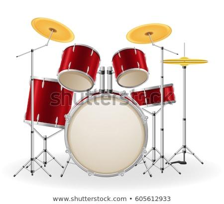 低音 · ドラム · 楽器 · 孤立した · 白 · 背景 - ストックフォト © jeff_hobrath