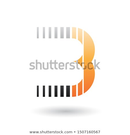Black and Orange Letter B Icon with Vertical Stripes Stock photo © cidepix