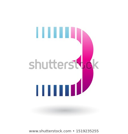 Blue and Magenta Letter B Icon with Vertical Stripes Stock photo © cidepix