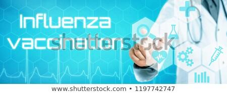 Médecin toucher icône futuriste interface grippe Photo stock © Zerbor