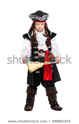 Young boy posing in a suit of pirate Stock photo © acidgrey