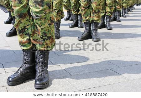 Stockfoto: Soldaat · rij · leger · militaire