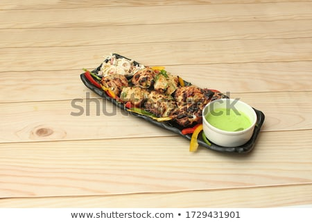 Snacks, fish and meat specialities on the buffet. Stock photo © ruslanshramko
