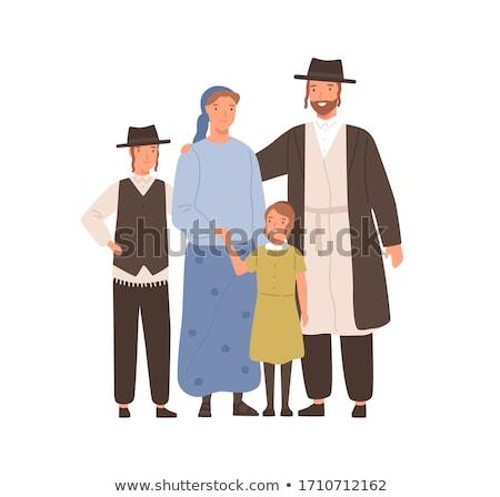 Cartoon Rabbi Hug Stock photo © cthoman