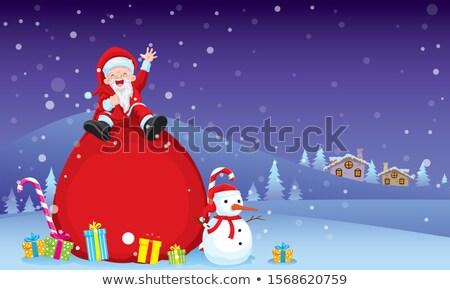 веселый · Рождества · снеговик · подарок · настоящее - Сток-фото © ori-artiste