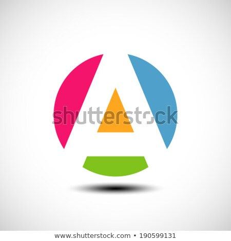 Red and Orange Geometrical Glossy Letter F Vector Illustration Stock photo © cidepix