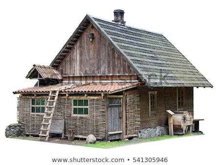 Eski ev kahverengi çatı örnek Bina dizayn Stok fotoğraf © colematt
