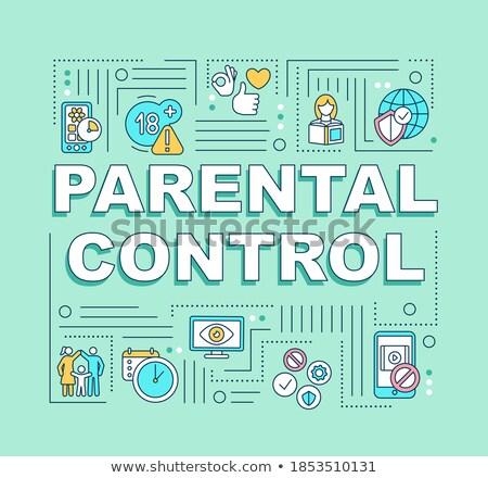Parental controlar software bandeira pais Foto stock © RAStudio