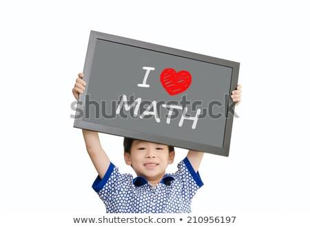 Children holding love maths sign Stock photo © colematt