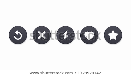 Interface social media. Star, heart. Popular social network for dating. stock photo © AisberG