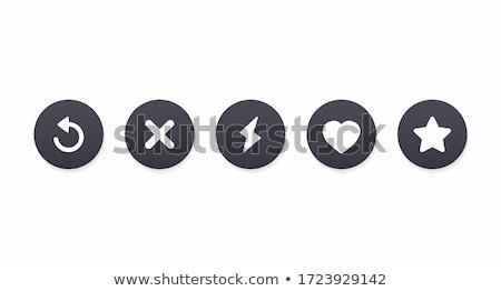 Interface estrela coração popular rede social Foto stock © AisberG