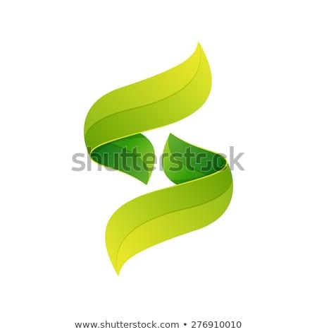 緑 ロゴ エコ 手紙 アイコン ベクトル ストックフォト © blaskorizov