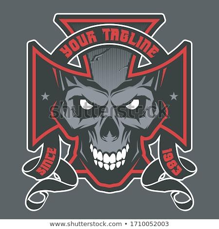 Outlaw Biker Angry Mascot Stock photo © patrimonio