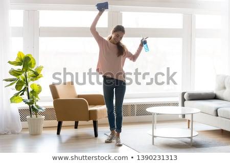 mão · humana · garrafa · água · fitness · sucesso - foto stock © andreypopov