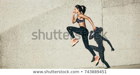 dans · kadın · atlamak · mutlu · spor - stok fotoğraf © dashapetrenko