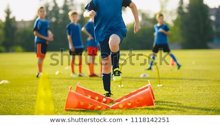 Physical Education Class. Soccer Training Session Stock photo © matimix