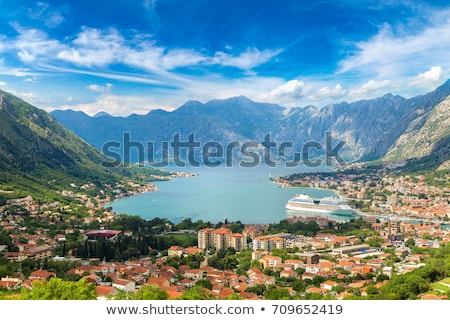 Aerial View from Mountain on Kotor Bay Stock photo © dariazu