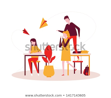 Psychology concept - modern vector flat design style illustration Stock photo © Decorwithme