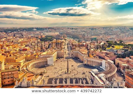 Famous Saint Peter's Square in Vatican and aerial view of the ci Stock photo © hsfelix