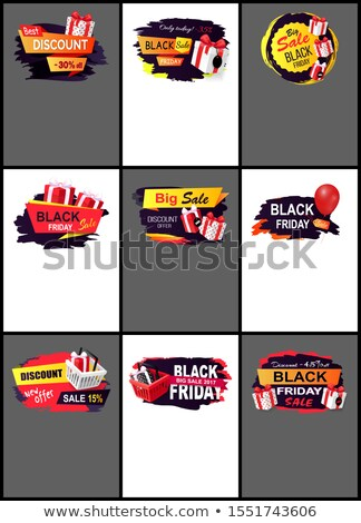 best black friday web pages with text sample stock photo © robuart