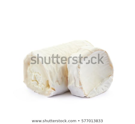 Goat Cheese Slices Isolated On White Background Stock photo © ThreeArt