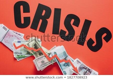 Słowo kryzys arrow Dolar widoku Zdjęcia stock © AndreyPopov