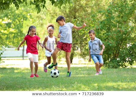 Stockfoto: Kinderen · spelen · sport · witte · kinderen · golf · kinderen